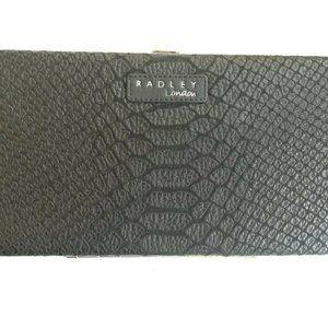 Radley Black Leather Clutch / Large Wallet Purse